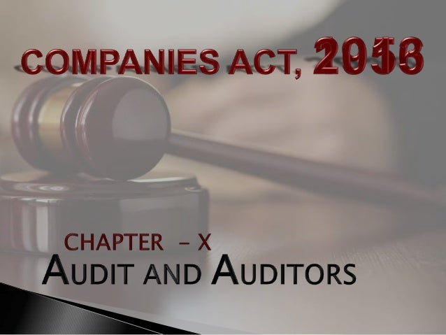 Provision related to audit and auditor Companies Act, 2013