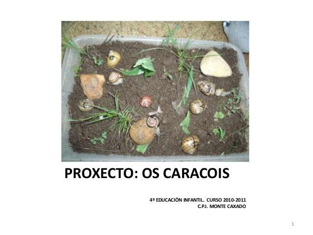 PROXECTO: OS CARACOIS 4º EDUCACIÓN INFANTIL. CURSO 2010-2011 C.P.I. MONTE CAXADO 1