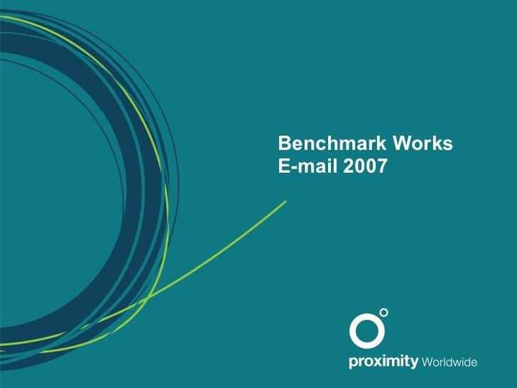 Proximity Bbdo Email Benchmark 2007 2008