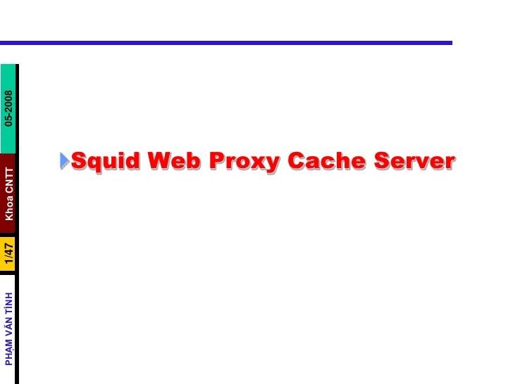 Squid Web Proxy Cache Server<br />