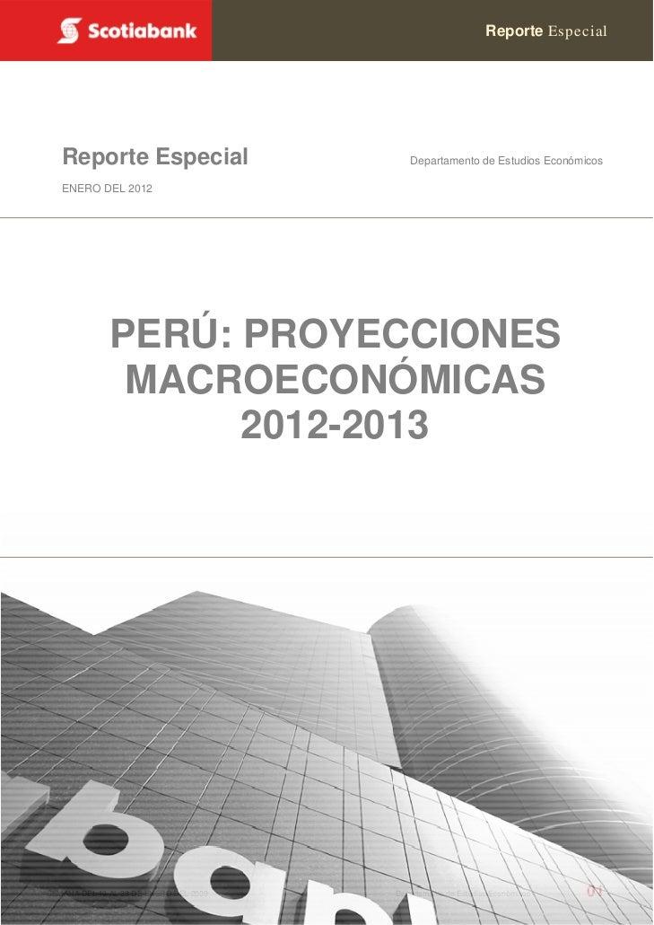 Reporte Especial   Reporte Especial                        Departamento de Estudios Económicos   ENERO DEL 2012           ...
