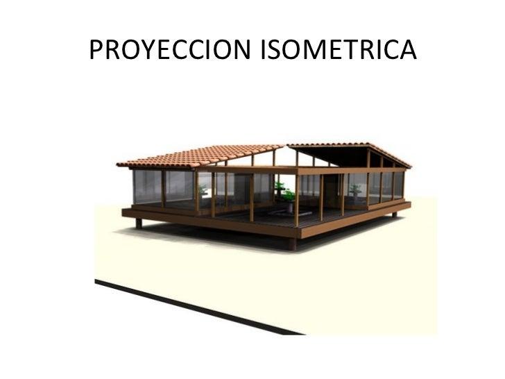 Proyeccion isometrica