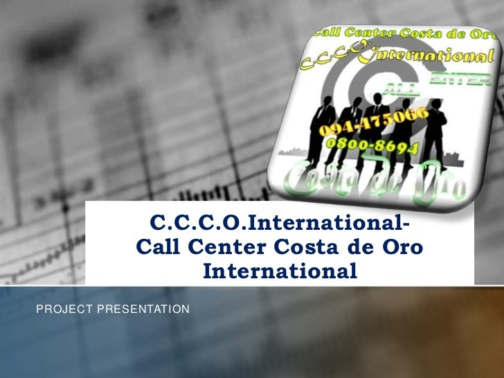Proyect ccco international presentation