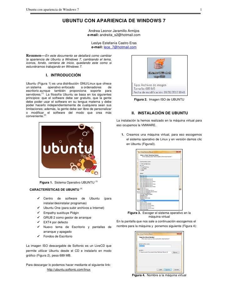 Ubuntu con apariencia de Windows 7                                                                                        ...