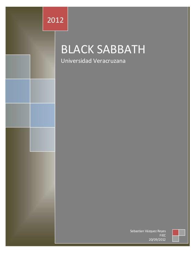 2012   BLACK SABBATH   Universidad Veracruzana                             Sebastian Vázquez Reyes                        ...