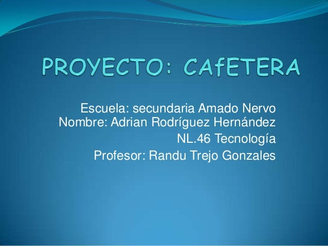 Proyecto Cafetera