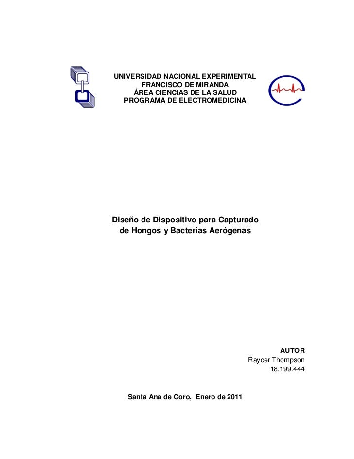 UNIVERSIDAD NACIONAL EXPERIMENTAL       FRANCISCO DE MIRANDA     ÁREA CIENCIAS DE LA SALUD  PROGRAMA DE ELECTROMEDICINADis...