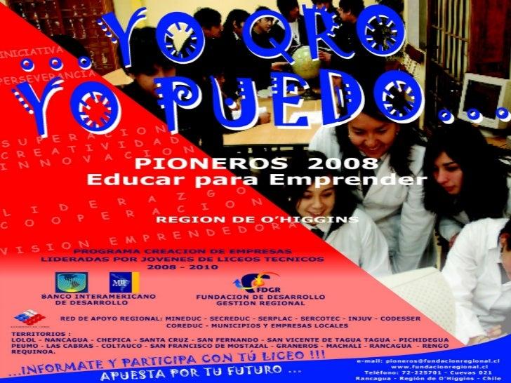 Jóvenes Emprendedores Pioneros 2008