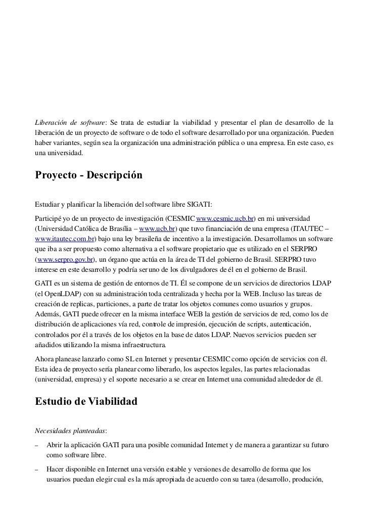 Proyecto liberació SIGATI