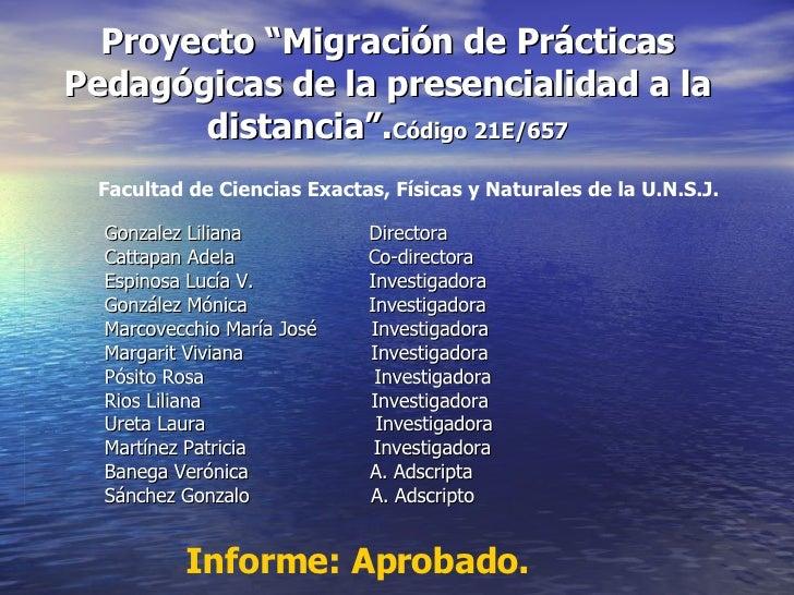 Proyecto Migración