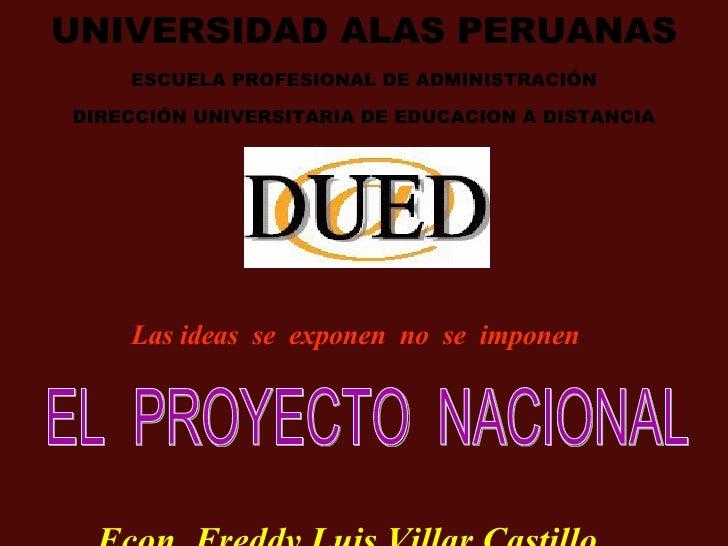 Proyecto Nacional De Realidad Nacional