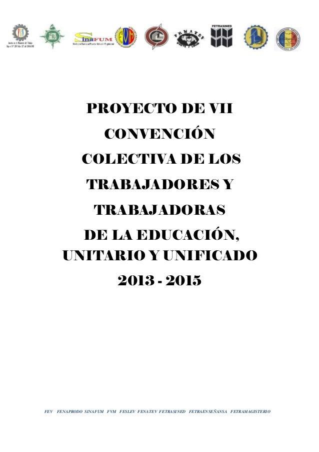 Contratación colectiva Proyecto unificado-2013-2015