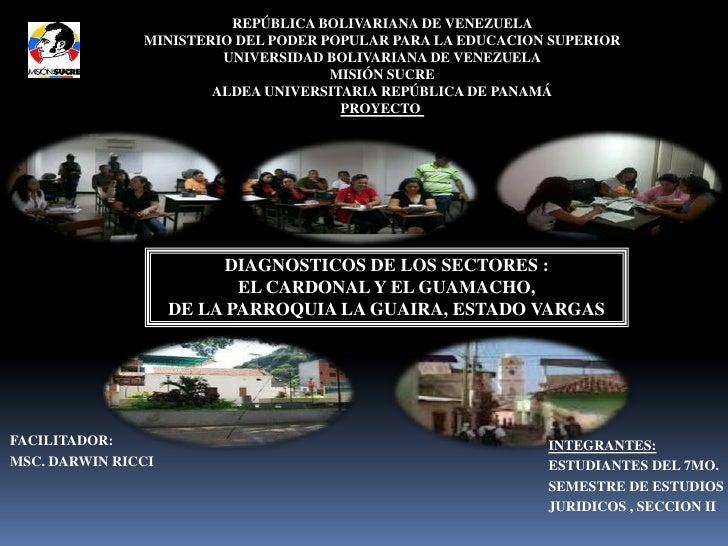 REPÚBLICA BOLIVARIANA DE VENEZUELA               MINISTERIO DEL PODER POPULAR PARA LA EDUCACION SUPERIOR                  ...
