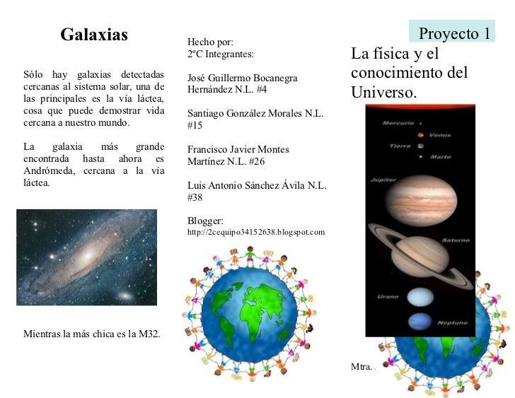 Proyecto 1. la física y el conocimiento del universo.