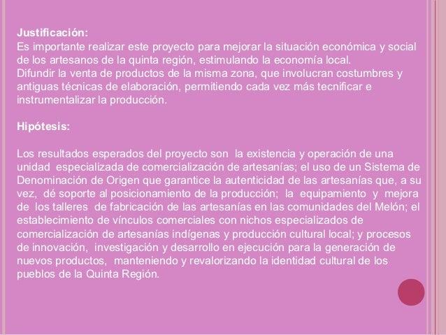 Proyecto de artesanias for Busco arquitecto para proyecto