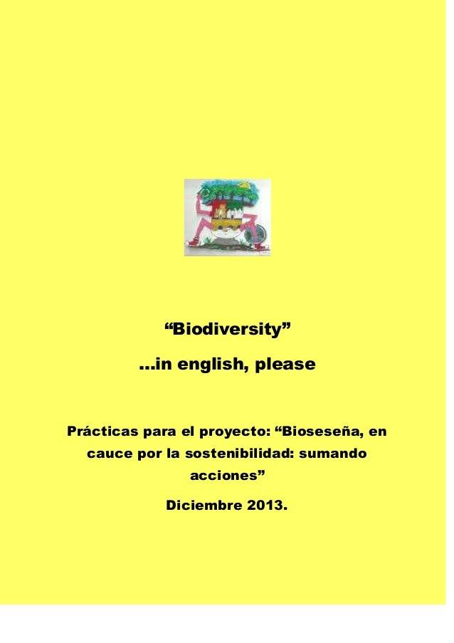 Proyecto 4º Biodiverstity