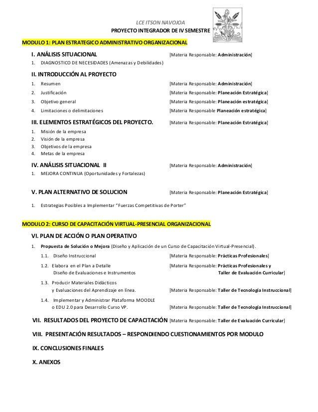 LCE ITSON NAVOJOA PROYECTO INTEGRADOR DE IV SEMESTRE MODULO 1: PLAN ESTRATEGICO ADMINISTRATIVO ORGANIZACIONAL  I. ANÁLISIS...
