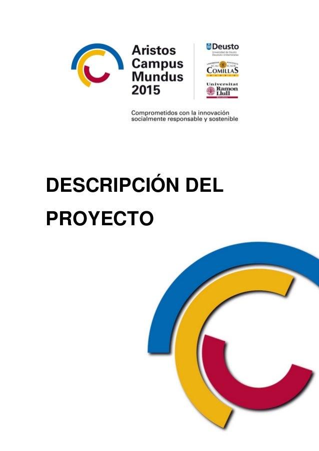 Proyecto Aristos Campus Mundus 2015. Campus de Excelencia Internacional.