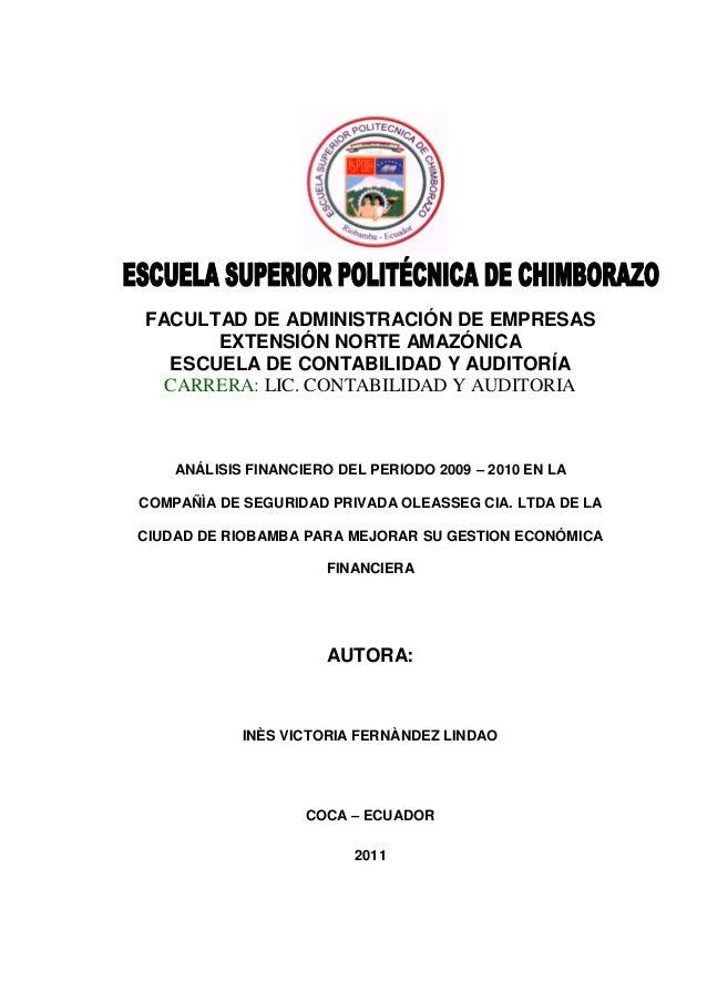 FACULTAD DE ADMINISTRACIÓN DE EMPRESAS      EXTENSIÓN NORTE AMAZÓNICA  ESCUELA DE CONTABILIDAD Y AUDITORÍA  CARRERA: LIC. ...