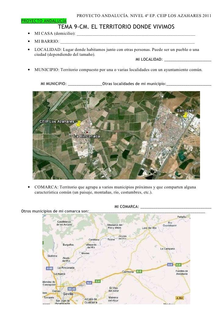Proyecto andalucía conocemos la geografía y sus gentes