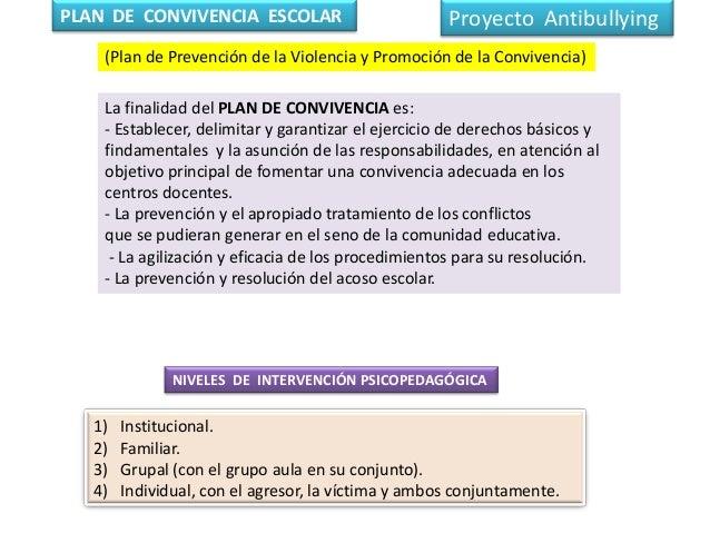 La finalidad del PLAN DE CONVIVENCIA es: - Establecer, delimitar y garantizar el ejercicio de derechos básicos y findament...