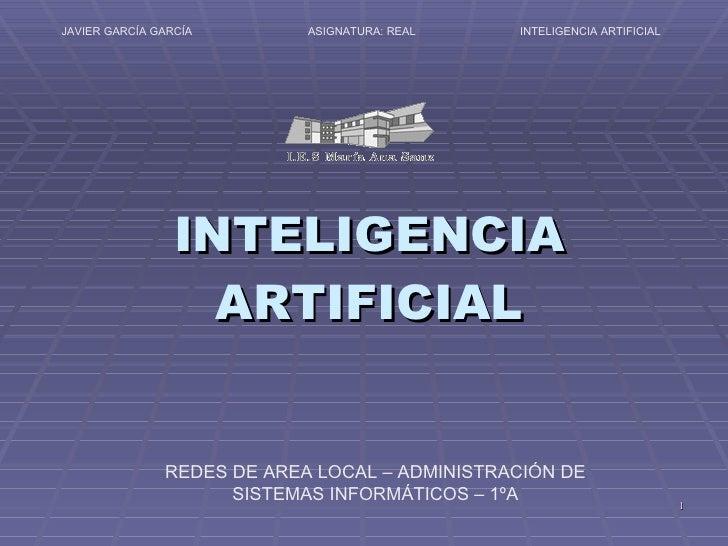 Proyecto Areas Inteligencia Artificial Javier Garcia