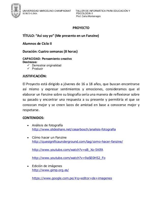 UNIVERSIDAD MARCELINO CHAMPAGNAT SURCO-LIMA  TALLER DE INFORMÁTICA PARA EDUCACIÓN Y PSICOLOGÍA II Prof. Celia Montenegro  ...