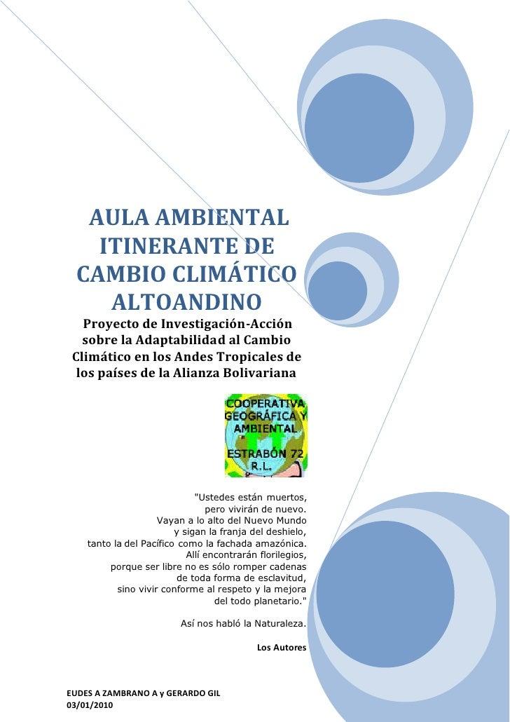 Proyecto aula  ambiental intinerante sobre cambio climático