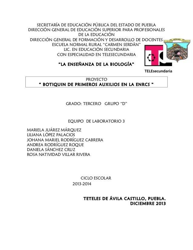 Proyecto biologia botiquin