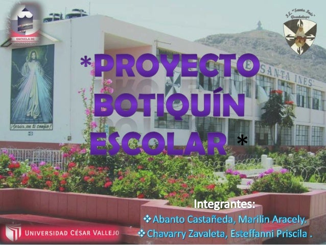 Proyecto botiqu n escolar for Proyecto para una cantina escolar