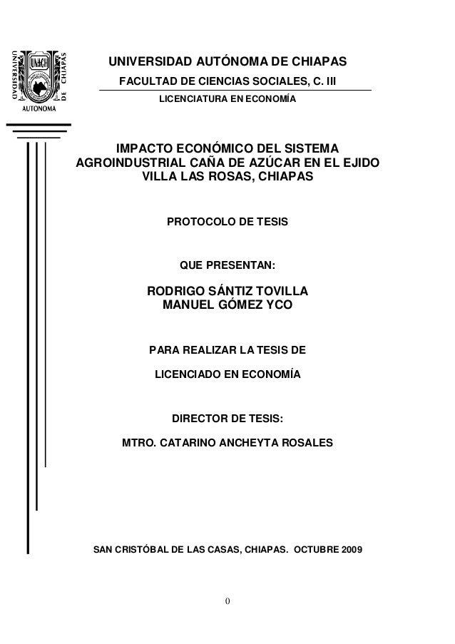 0 UNIVERSIDAD AUTÓNOMA DE CHIAPAS FACULTAD DE CIENCIAS SOCIALES, C. III LICENCIATURA EN ECONOMÍA IMPACTO ECONÓMICO DEL SIS...
