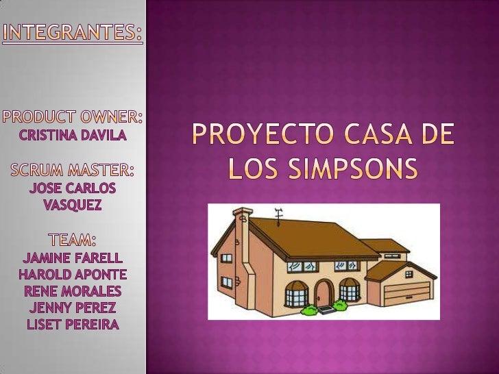Proyecto casa de los Simpsons