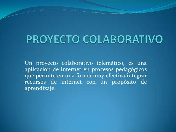 Proyecto colaborativos