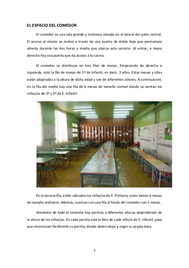 Proyecto comedor escolar 2013 2014 for Comedor escolar proyecto