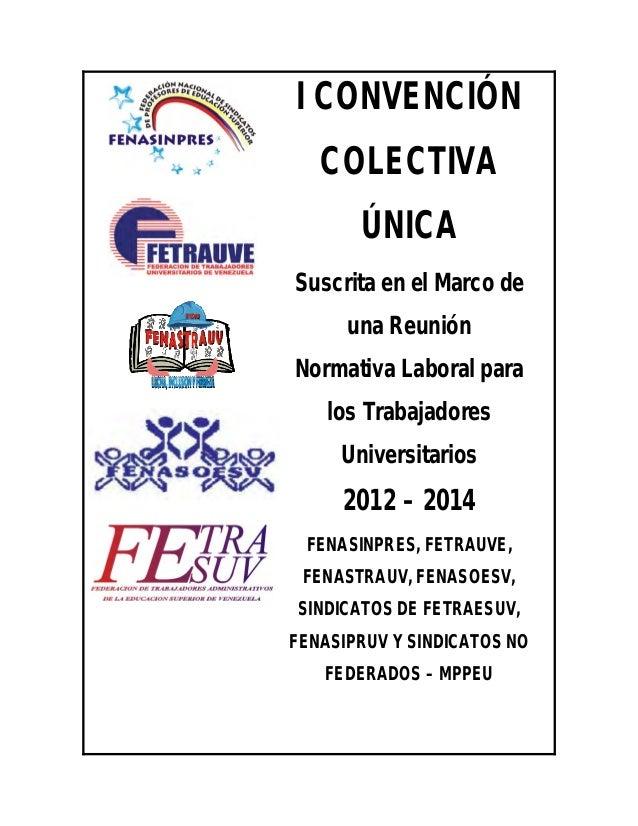 Proyecto convención unificado_2013