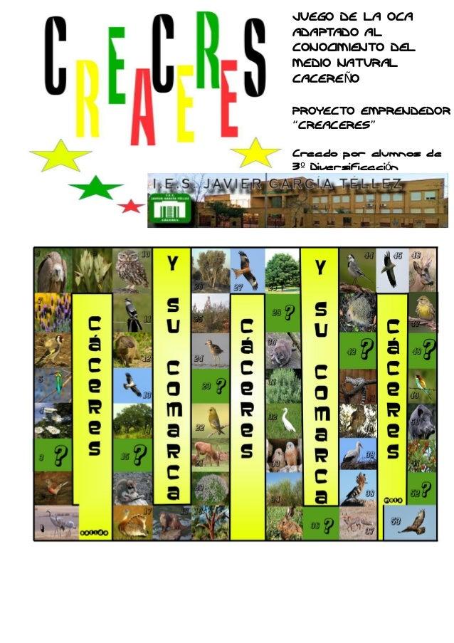 Proyecto creaceres juego comarca natural de caceres