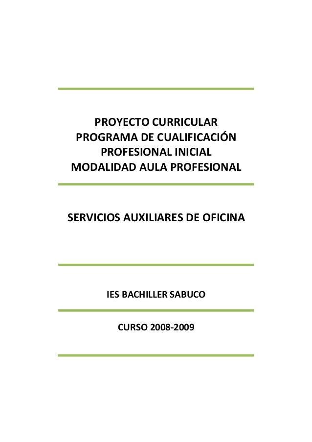 Proyecto curricular pcpip 2008  09