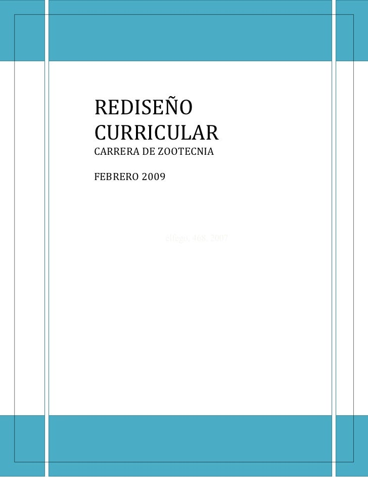 REDISEÑO CURRICULARCARRERA DE ZOOTECNIA JALAPA. GUATEMALA    FEBRERO 2009