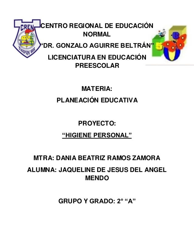 """CENTRO REGIONAL DE EDUCACIÓN NORMAL """"DR. GONZALO AGUIRRE BELTRÁN"""" LICENCIATURA EN EDUCACIÓN PREESCOLAR MATERIA: PLANEACIÓN..."""