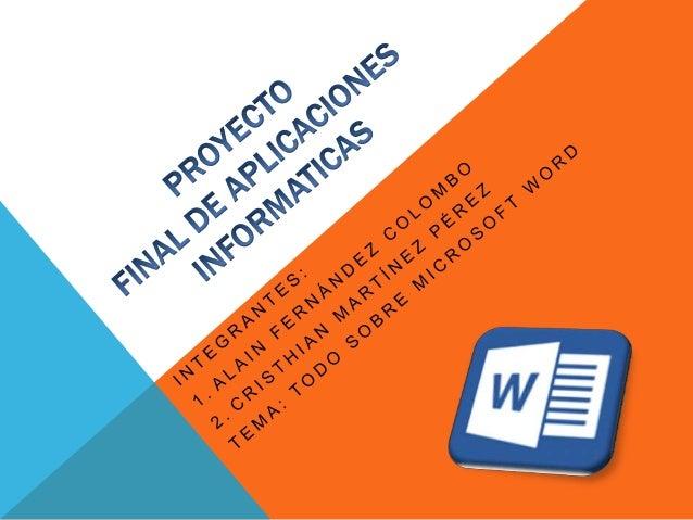W O R D  es un software que permite crear documentos de manera profesional en los cuales se utilizan como ser:  Tablas de ...