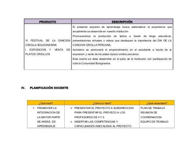 Proyecto de aprendizaje. dia de la cancion criolla 2O14 View Image