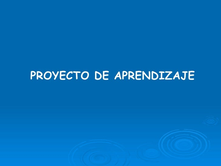 Proyecto De Aprendizaje[1]