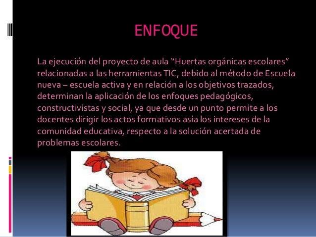 Proyecto De Aula Huertas Org Nicas Escolares