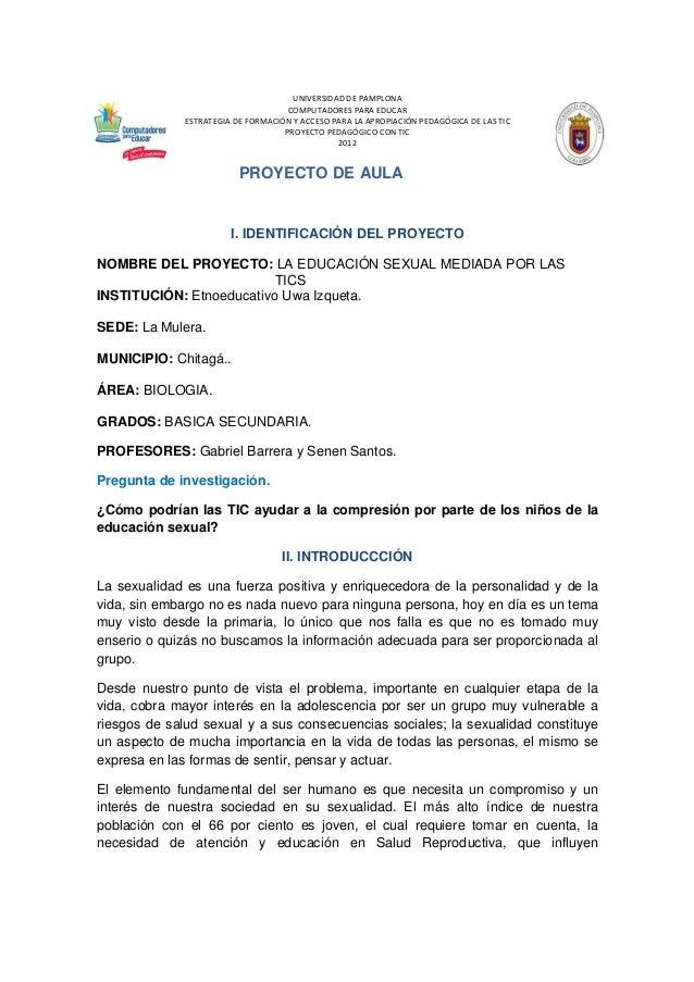 Proyecto de aula  IE Uwa Izqueta Sede La Mulera