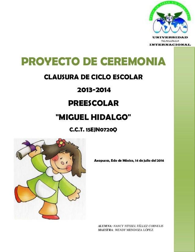 Proyecto De Ceremonia 2014