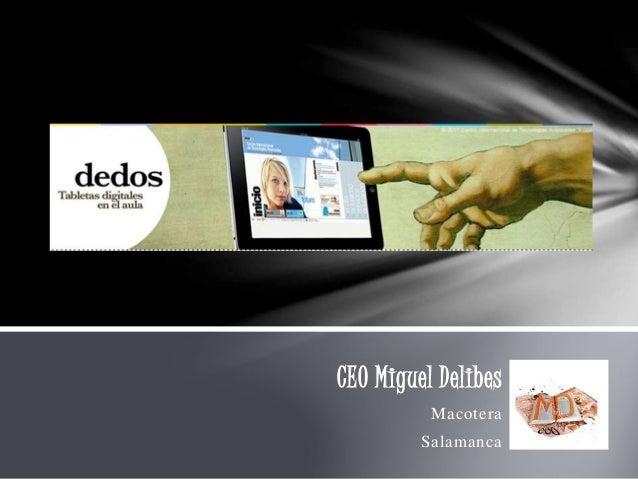 CEO Miguel Delibes Macotera Salamanca