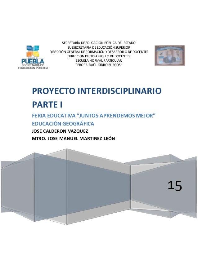 SECRETARÍA DE EDUCACIÓN PÚBLICA DEL ESTADO SUBSECRETARÍA DE EDUCACIÓN SUPERIOR DIRECCIÓN GENERAL DE FORMACIÓN Y DESARROLLO...