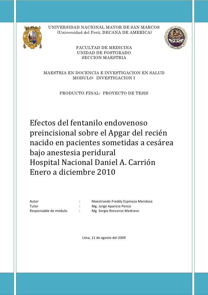 UNIVERSIDAD NACIONAL MAYOR DE SAN MARCOS<br /> (Universidad del Perú, DECANA DE AMERICA)<br />FACULTAD DE MEDICINA<br />UN...