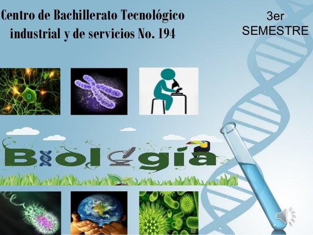 3er SEMESTRE Centro de Bachillerato Tecnológico industrial y de servicios No. 194