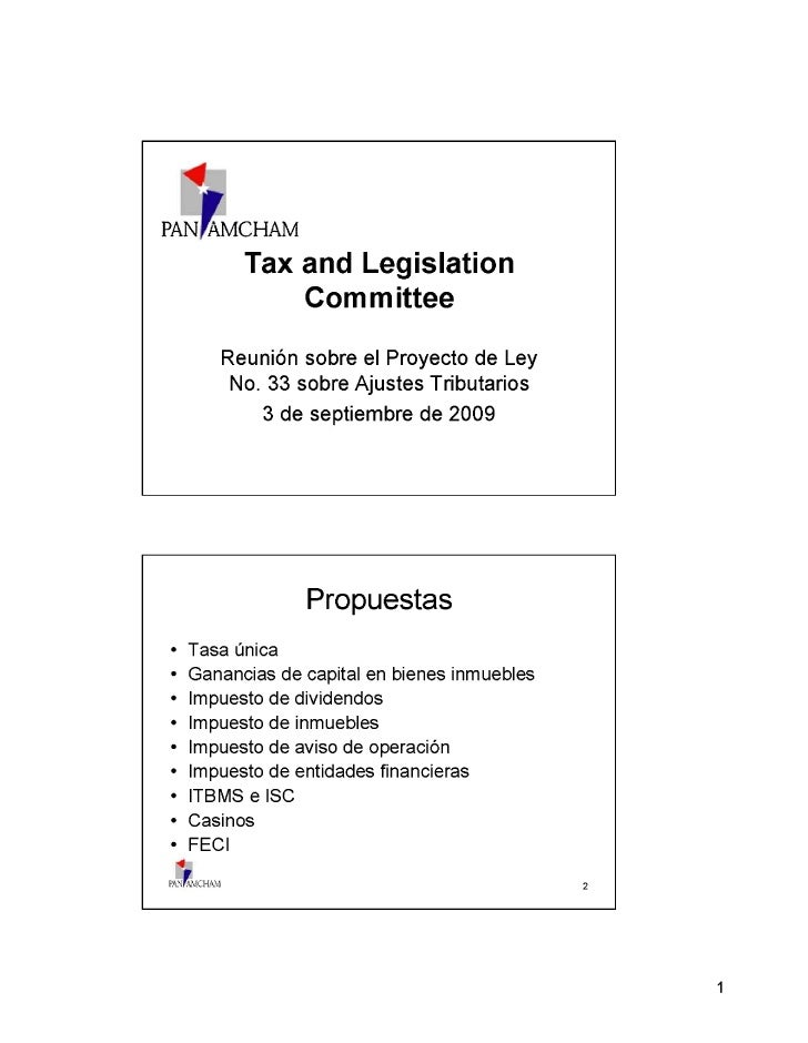 Proyecto De Ley 33